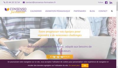 Site internet de Consenso Formation - Consenso Developpement