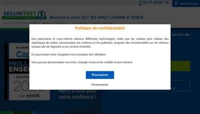 Site internet de Centre Controle Technique Haut Lignon