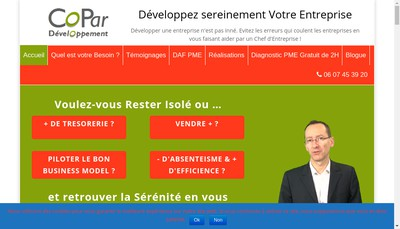 Site internet de Copar Developpement