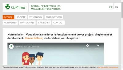 Site internet de Coprime