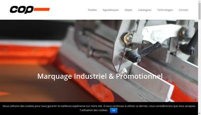 Site internet de Cop Serigraphie