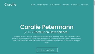 Site internet de Coralie Petermann