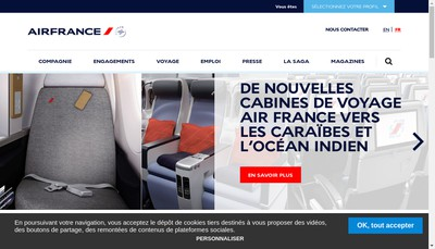 Site internet de Air France Consulting