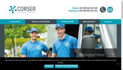 Site internet de Corser Iroise