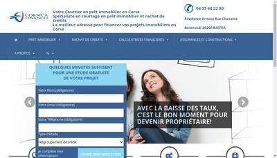 Site internet de Corsica Finances