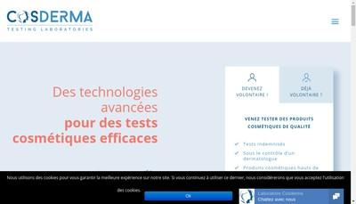 Site internet de Laboratoire Cosderma