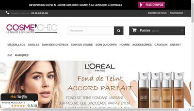 Site internet de Cosme'Chic