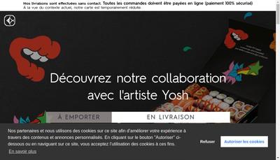 Site internet de Cote Sushi