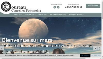 Site internet de Coureau Conseil et Patrimoine