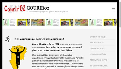 Site internet de Courir 02