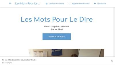Site internet de Les Mots pour le Dire