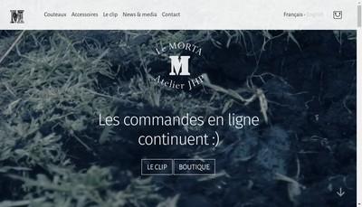 Site internet de Couteaux Morta