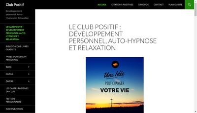 Site internet de Club Positif Services
