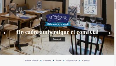 Site internet de Tea Room Creperie Crampous Mad