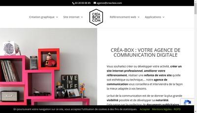 Site internet de Crea-Box