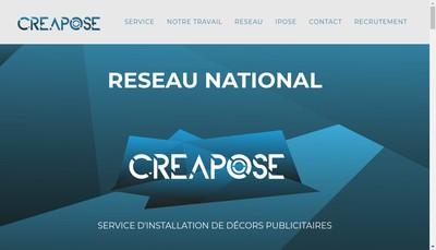 Site internet de Creapose