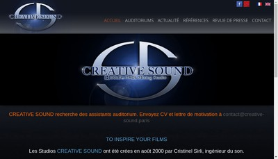Site internet de Creative Sound