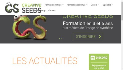 Site internet de Creative Seeds Holding