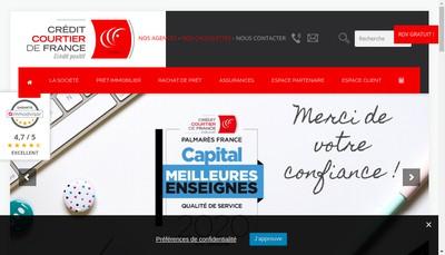 Site internet de Credit Courtier de France