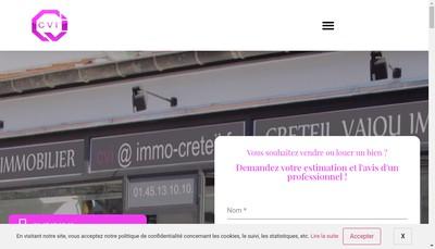 Site internet de Cvi-Creteil Vajou Immobilier