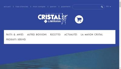 Site internet de Cristal Liminana Distillerie Mediterrane