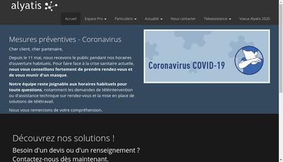 Site internet de Alyatis