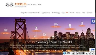 Site internet de Crocus Technology