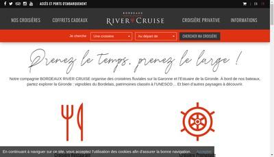 Site internet de Bordeaux River Cruise