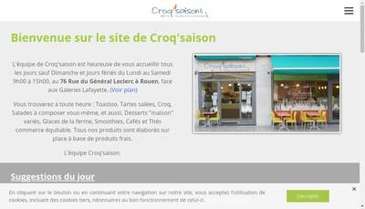Site internet de Croq Saison