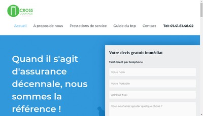 Site internet de CROSS COURTAGE