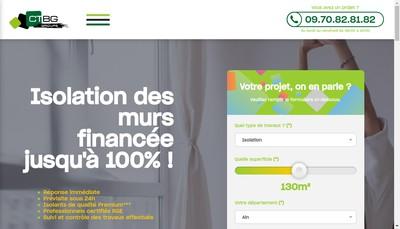Site internet de Groupe Ctbg