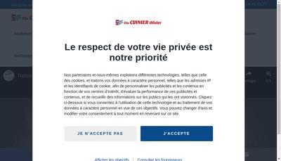 Site internet de Cuinier Olivier