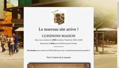 Site internet de Cuisinons Maison