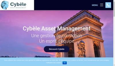 Site internet de Cybele Am (Asset Management)