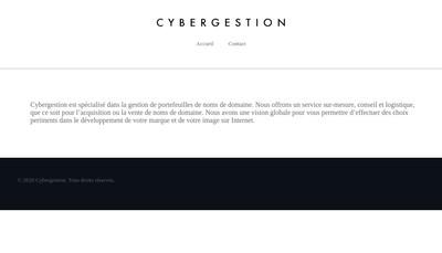 Site internet de Cybergestion Tel Erotique Tchat