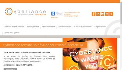 Site internet de Cyberiance