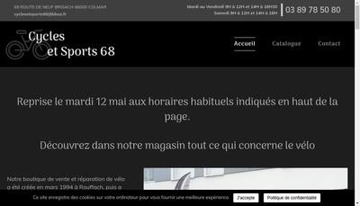 Site internet de Cycles et Sports 68