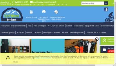 Site internet de Cycl'Olmes Pyrenees