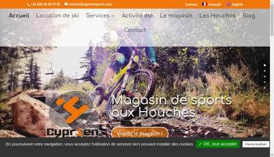Site internet de Cyprien Sports Xr Info
