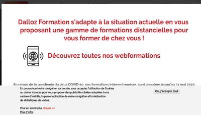 Site internet de Dalloz Formation