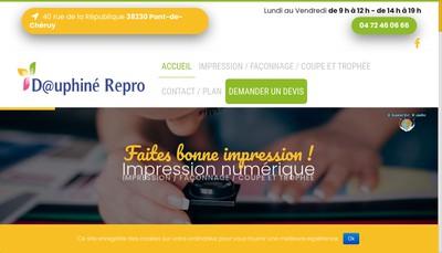 Site internet de Dauphine Repro