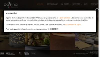 Site internet de Restaurant Da Vinci