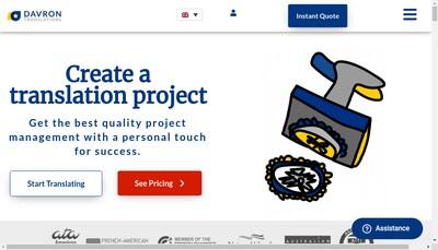 Site internet de Davron Translations