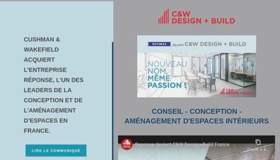 Site internet de Cushman & Wakefield Design + Build France