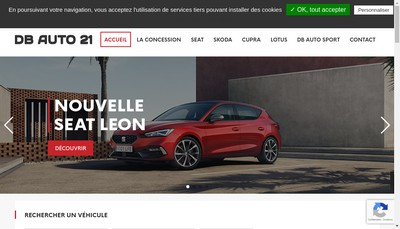 Site internet de Groupe Db Auto