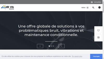 Site internet de Db Vib Ingenierie