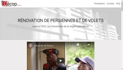 Site internet de Decap Ile de France