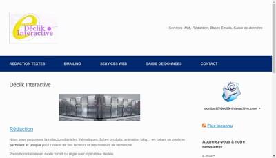 Site internet de Declik Interactive