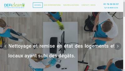 Site internet de Defi Clean