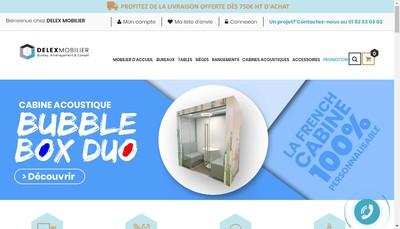 Site internet de Delex Mobilier